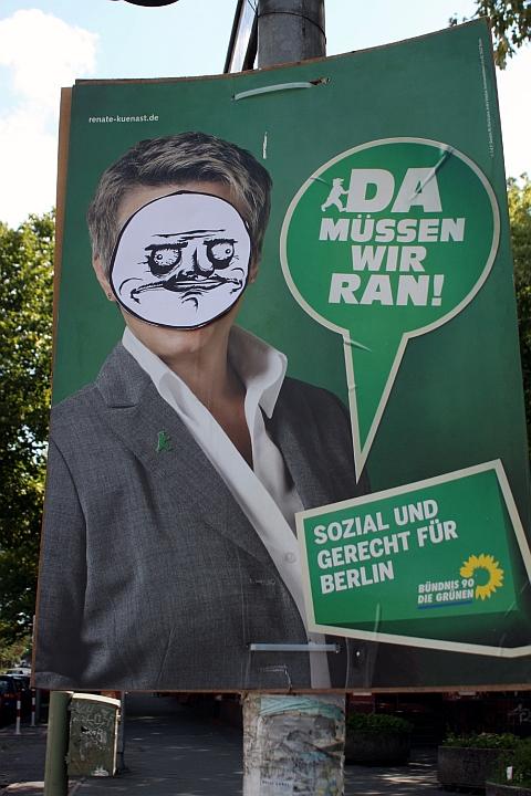 Grüne, Berliner Wahlplakat - Me Gusta